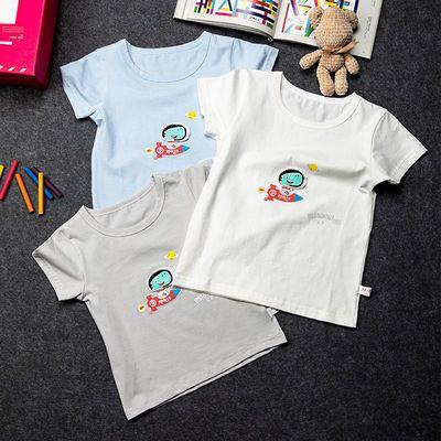 男童纯棉T恤短袖2021新款宝宝夏季宝宝帅气卡通半袖中小儿童