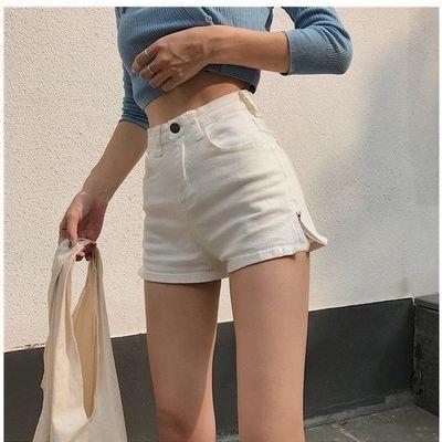 高腰弹力修身显瘦百搭夏季ins热裤子女个性侧边拉链包臀