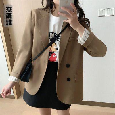 58390/复古小西装外套女韩版春季设计感小众休闲款常规版小西服上衣