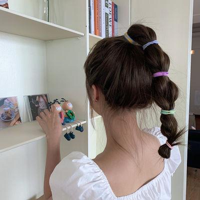 纯色小皮筋女扎头可爱学生韩版发圈少女简约ins发饰头绳新款夏天
