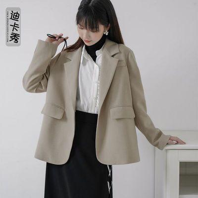 70478/春夏新款矮个子小西装乳白色黑色女jk外套潮ins设计感赫本风洋气