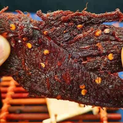 牛肉干50g/1000g正宗内蒙古手撕风干五香辣酱牛肉片独立包装零食