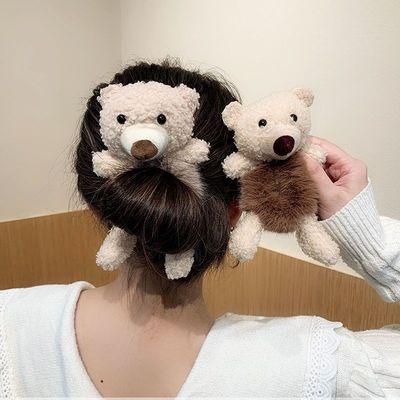 76707/羊绒可爱毛圈熊皮筋女扎头成人发圈头饰发饰盘发神器女学生韩版