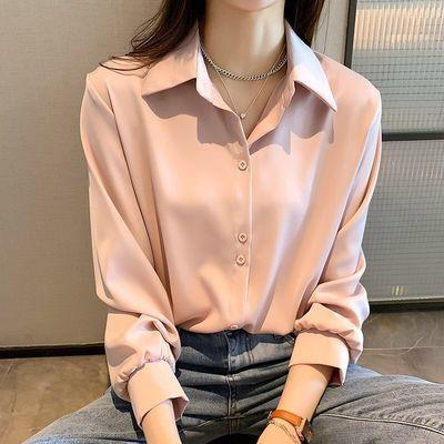 67303/雪纺衬衫女2021春夏新款宽松显瘦时尚设计叠穿白衬衣小众打底防晒