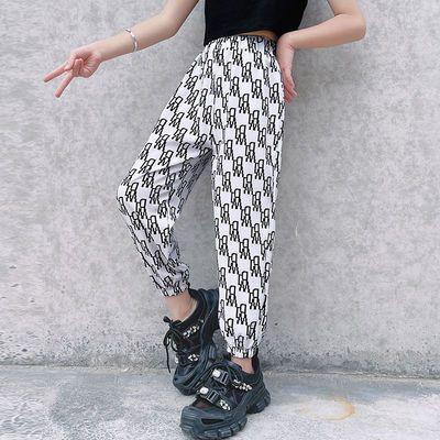 2021新款夏季儿童防蚊裤薄款女童灯笼裤薄款透气男童宽松抖抖裤子