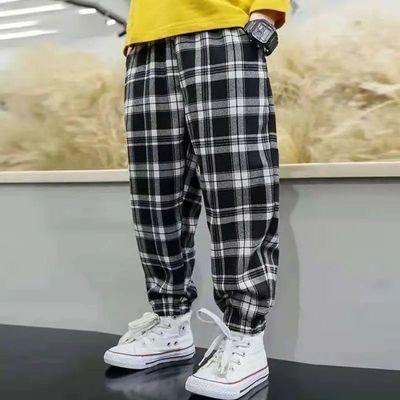 【新品】2021男女童夏季中大童裤子时尚洋气休闲束脚运动裤潮