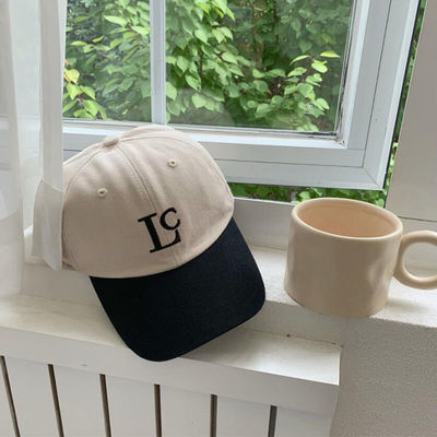 2021新款ins韩国博主同款Lc字母拼接棒球帽鸭舌帽帽子女新款百搭