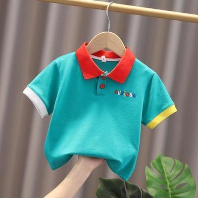 男童新款短袖POLO衫T恤夏装夏季童装儿童1-5宝宝中小童短袖上衣潮