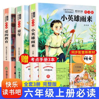 75315/小英雄雨来正版完整版 爱的教育 童年高尔基原著六年级上册课外书
