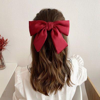 大蝴蝶结头饰发夹后脑勺气质顶夹发卡网红2020年新款头发夹子