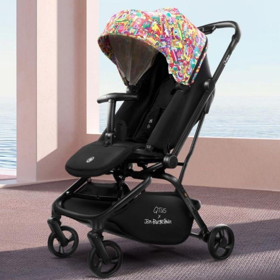 昆塔斯q9plus婴儿推车轻便折叠防震宝宝一键收车双向可旋转坐躺