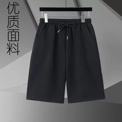 男士外穿五分短裤宽松百搭夏季透气新款潮流运动黑色休闲中裤学生