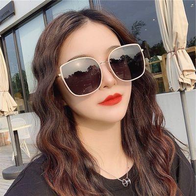 75834/圆脸潮墨镜女2021新款GM太阳镜大脸显瘦明星同款网红复古韩版眼镜