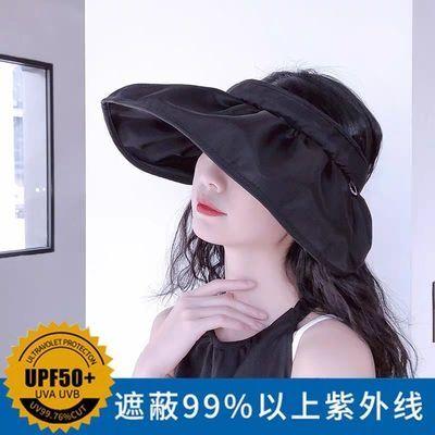 55780/夏季2021新款便携遮阳帽简约气质大檐可折叠遮阳帽防紫外线贝壳帽