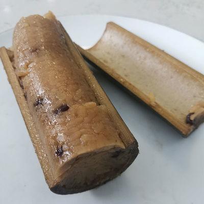 新鲜现做竹筒粽子蜜枣豆沙粽槲叶粽大粽子早餐素粽子批发