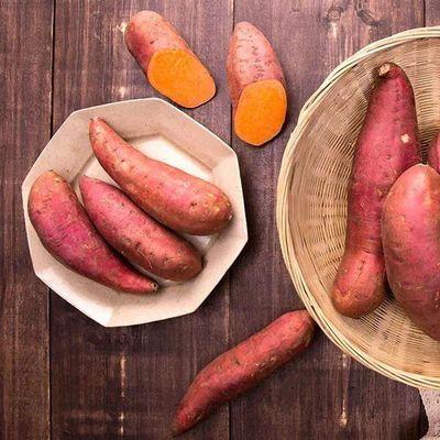 新疆特级天山小蜜薯现挖沙土地红薯糖心红心地瓜番薯5斤亏本冲量