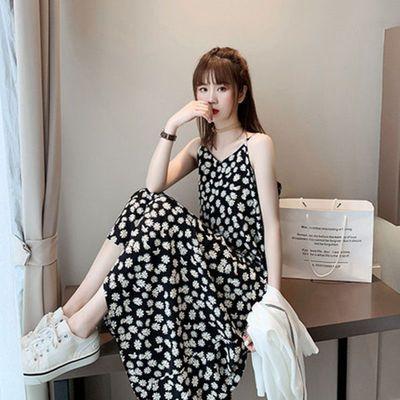 59926/2021夏季小雏菊碎花连衣裙仙女显瘦裙子超仙森系法式吊带少女裙