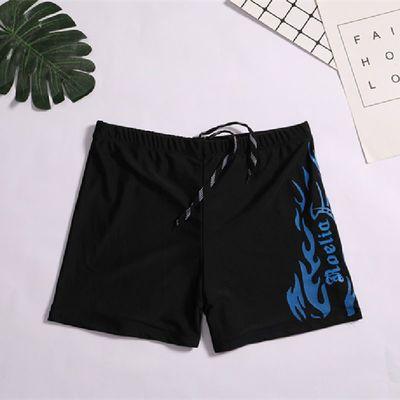 49595/厂家直销高档火焰泳裤男士泳衣学生宽松平角速干防尴尬专业成人