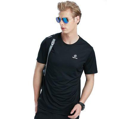 60182/探拓运动速干T恤男女夏季薄款舒适透气圆领短袖健身休闲晨跑上衣