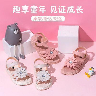 女童凉鞋夏季沙滩儿童凉鞋时尚公主鞋中大童凉鞋防滑软底花朵女鞋