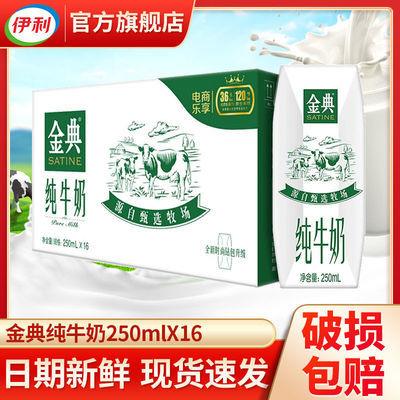 伊利金典纯牛奶250ml*16盒利乐钻整箱学生儿童早餐奶