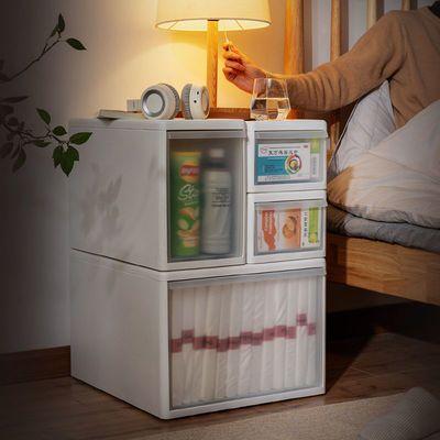 收纳箱抽屉式收纳盒塑料透明衣服家用衣物储物整理箱衣柜收纳柜子