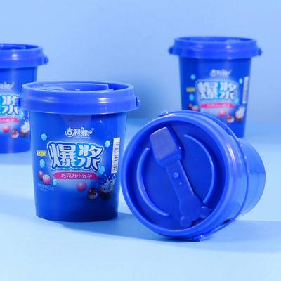 76036/吉利猴网红爆浆糖果脆心球牛奶巧克力儿童饼干办公室休闲零食批发