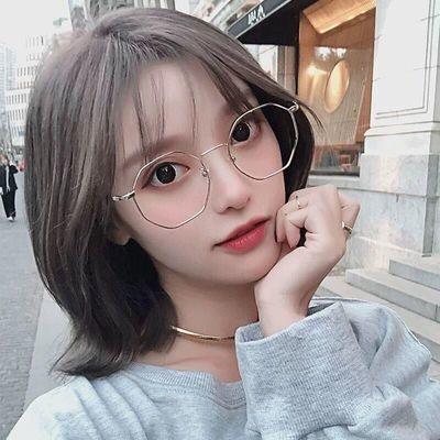 专业学生近视眼镜女大框抗蓝光平光镜配有度数网红款眼镜男韩版潮