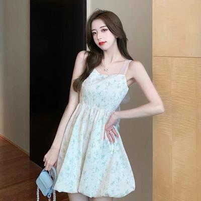 59538/超仙气质花苞公主裙甜美温柔风复古法式初恋纯欲风性感吊带连衣裙