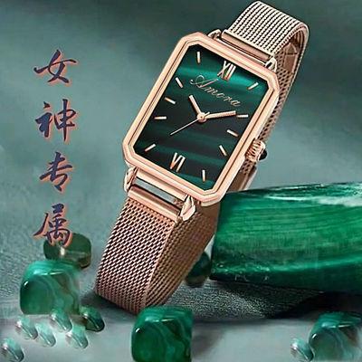 2021新款手表女士气质时尚复古手表女学生韩版简约手环石英表女