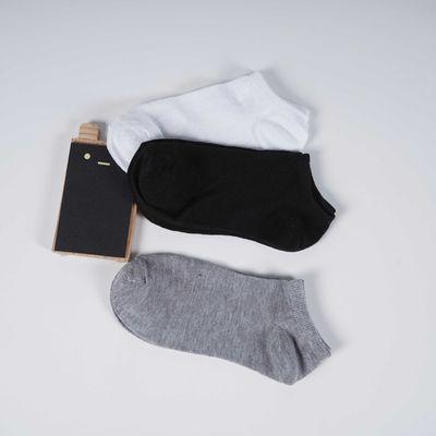 袜子ins男袜女袜短袜春夏透气防臭吸汗时尚黑白灰运动袜