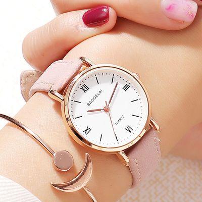【潮牌正品】手表女学生韩版简约潮流石英表时尚少女ins女士腕表