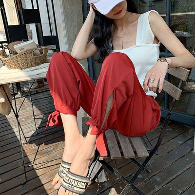 【工厂店】九分阔腿裤女夏季薄款宽松高腰垂感束脚萝卜凉凉灯笼裤