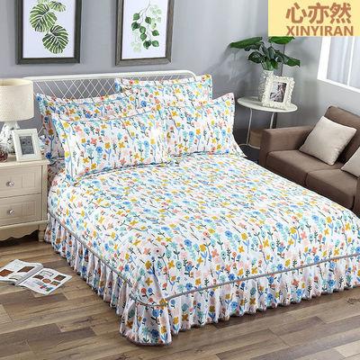 加厚单件床罩床裙三件套韩版花边床单床围防尘保护罩四季通用