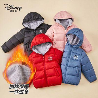 迪士尼童装棉服宝宝儿童2021冬新款加厚保暖休闲反季清仓外套棉袄