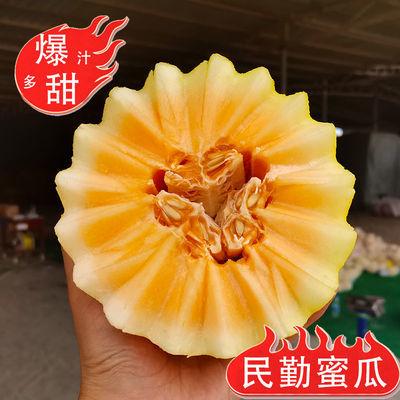 【优质】甘肃民勤沙漠蜜瓜3-10斤甜瓜应当季黄金新鲜黄河蜜瓜