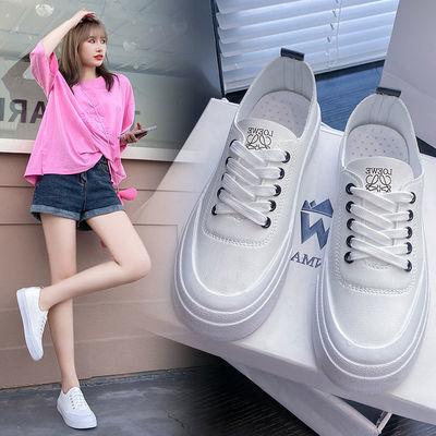 69604/小白鞋女2021新款秋季百搭白鞋休闲鞋运动鞋学生鞋韩版潮鞋女鞋