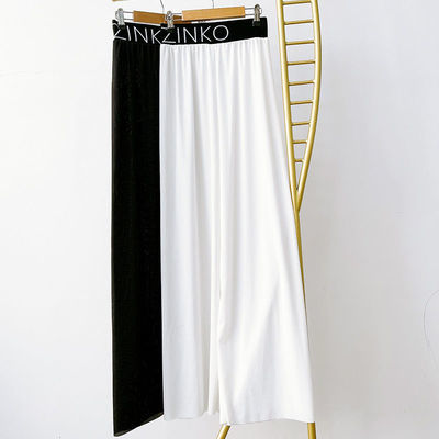 新款阔腿裤女夏薄款冰丝女裤夏高腰垂感休闲宽松直筒西装裤潮子