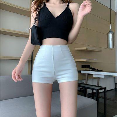 75553/短裤女夏辣妹薄款高腰外穿休闲小个子显瘦热裤紧身打底裤白色裤子