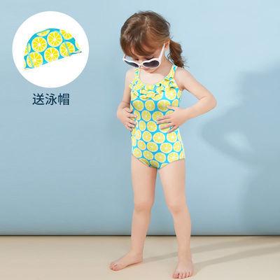 儿童泳衣女童连体游泳衣宝宝中大童小女孩比基尼2021新款学生泳装