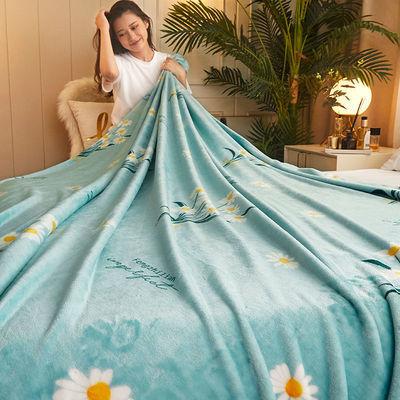 春夏季毛毯午睡毯薄款空调毯法兰绒毛毯单人沙发毯盖毯珊瑚绒毯子