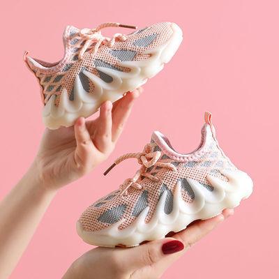 女童鞋2021年春秋单鞋儿童网鞋透气网面运动鞋男中大童椰子老爹鞋