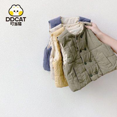叮当猫儿童马甲反季男童女童百搭棉背心2021秋冬新款外穿保暖马夹