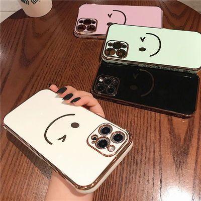 侧边电镀笑脸iPhone12手机壳苹果11/xr/xsmax情侣8p网红7plus防摔