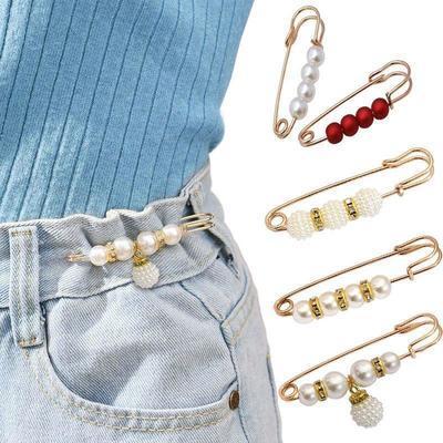 领口变小神器收裤腰别针衣服领口防走光扣背带裤裙子固定扣胸针女