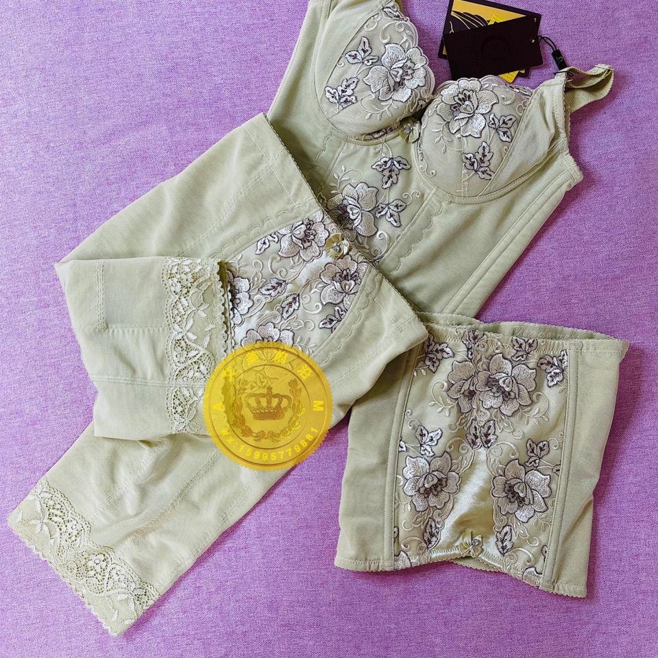 聚贤正品美体内衣身材管理器肤色三件套长纹胸腰夹束裤TDS模具