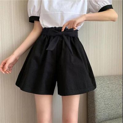 L2021新款短裤女夏高腰宽松阔腿裤子韩版休闲裤大码热裤薄