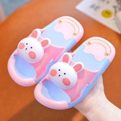 57343/儿童拖鞋夏男童女童可爱卡通室内防水防滑大童家居软底小孩凉拖鞋