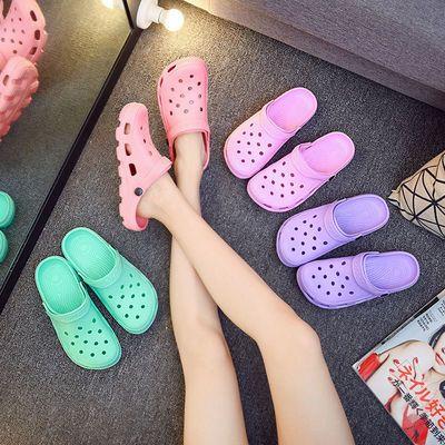 2021夏季新款中大童凉鞋防滑透气洞洞鞋软底耐磨男女童时尚沙滩鞋