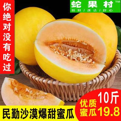 黄河蜜瓜新鲜民勤甜瓜现摘黄金蜜瓜新鲜应季甜瓜2/5/10斤